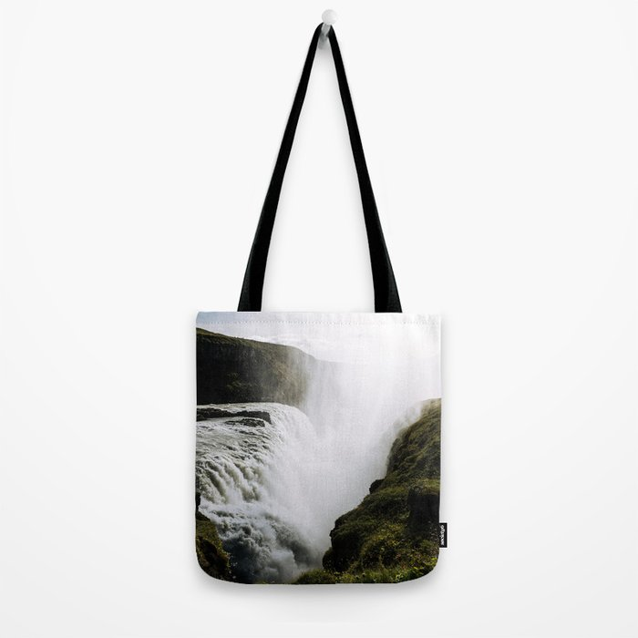 Gullfoss waterfall in Iceland - Landscape Photography Tote Bag