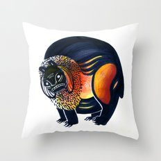 Angry Lion Throw Pillow