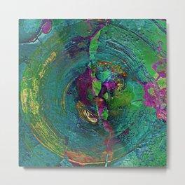 Abstract Distressed Mandala 638 Metal Print