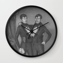 Chang and Eng Bunker - Siamese Twins Portrait Wall Clock