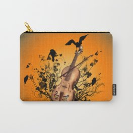 Violin with violin bow Carry-All Pouch