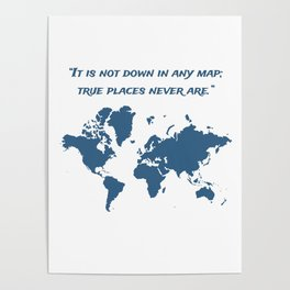 Travel Map with a Quote Poster