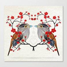 look at me my bird  Canvas Print