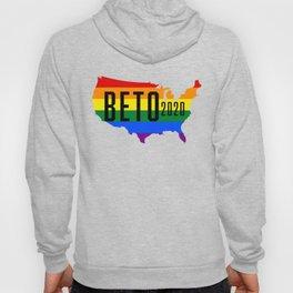 Beto 2020 GLBT / LGBT Rainbow Flag: Beto Orourke For President Campaign Hoody