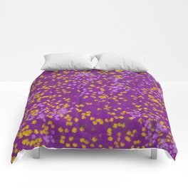 Field of Purple and Yellow Comforters