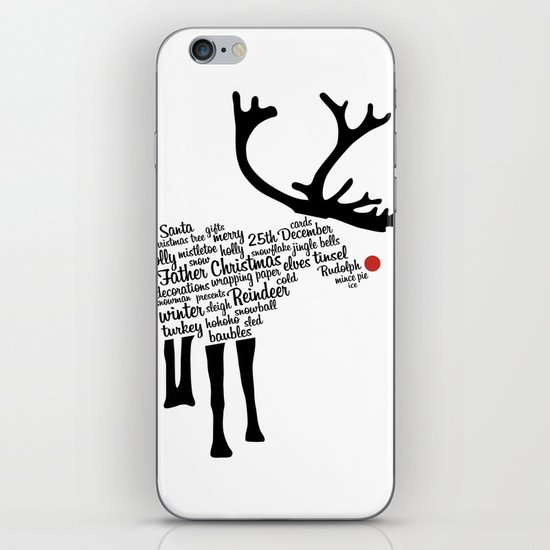 Rudolph Typography iPhone & iPod Skin