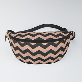 Chevron Pattern Rose Gold Fanny Pack