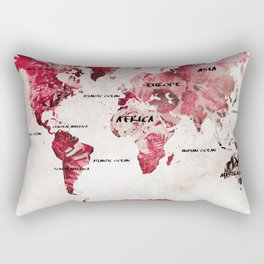 world map 26 Rectangular Pillow