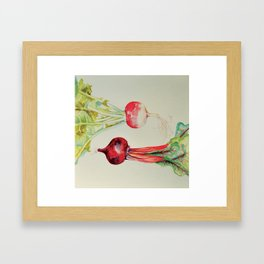the turnip and the beet Framed Art Print