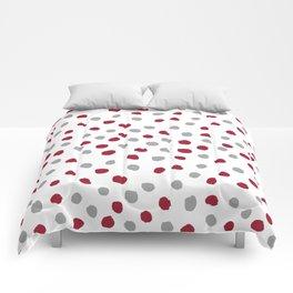 University of Alabama colors dots polka dots minimal pattern college football sports Comforters