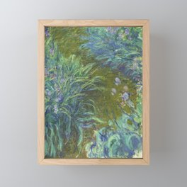 Irises by Claude Monet Framed Mini Art Print