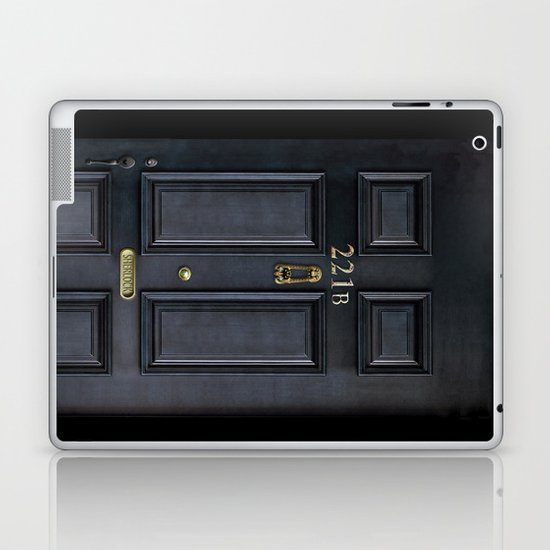 Classic Old sherlock holmes 221b door iPhone 4 4s 5 5c, ipod, ipad, tshirt, mugs and pillow case Laptop & iPad Skin