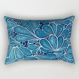 Blue leaf Rectangular Pillow