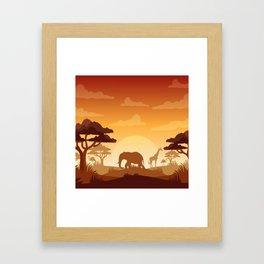 Abstract African Safari Framed Art Print