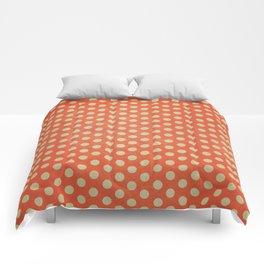 Lots of Dots - Geometric Pattern Design (Orange) Comforters