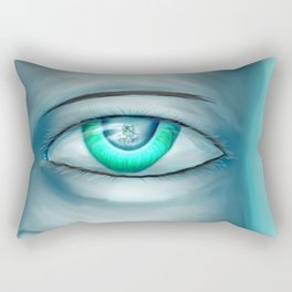 hiding emotion Rectangular Pillow