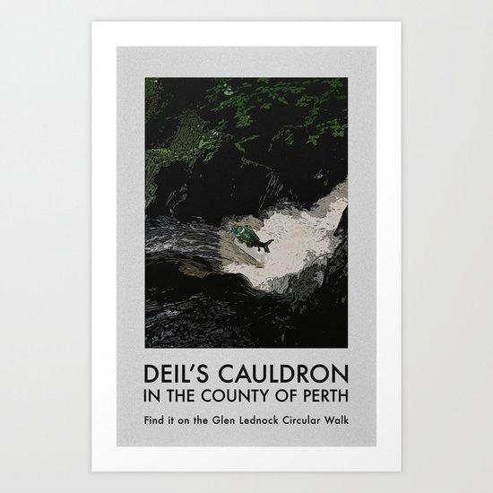 DEIL'S CAULDRON IN THE COUNTY OF PERTH Art Print