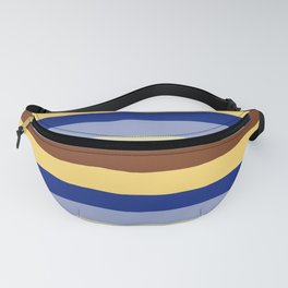 lumpy or bumpy lines abstract and summer colorful - QAB277 Fanny Pack