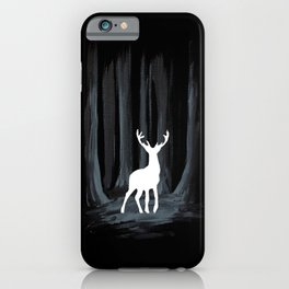 Glowing White Stag iPhone Case