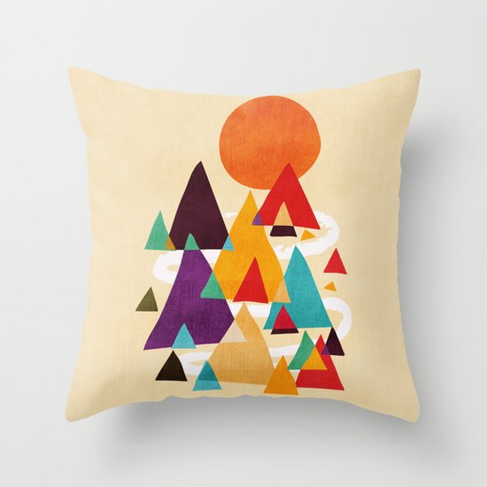 Let's visit the mountains Throw Pillow