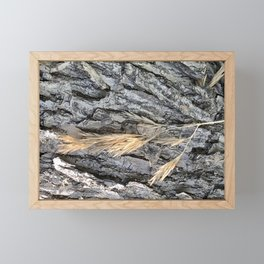 Tree Wheat Framed Mini Art Print