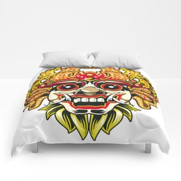 leak bali mask vector chiefs face Comforters