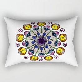 abstract nonagon mandala Rectangular Pillow