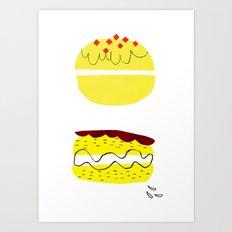 donut vs eclaire Art Print