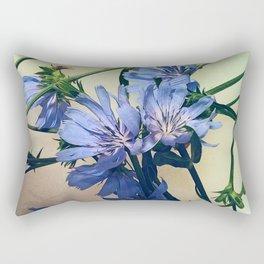 Blue Wildflower Rectangular Pillow