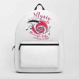 Music heals, musician gift Backpack