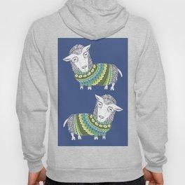 Sheep wearing Fair Isle knitted sweater Hoody