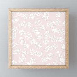 Pineapple pattern on pink 022 Framed Mini Art Print