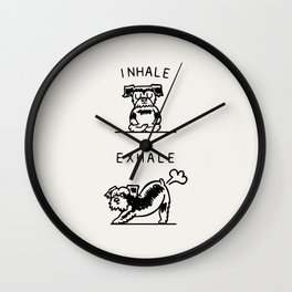 Inhale Exhale Schnauzer Wall Clock