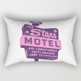 Seeing Stars ... Motel ... (Purple/Pink Sign) Rectangular Pillow