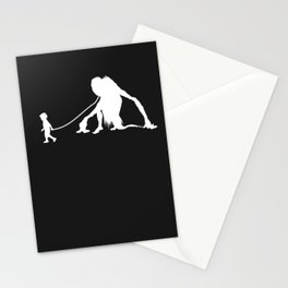 Jikininki Pet Walked By Boy Stationery Cards