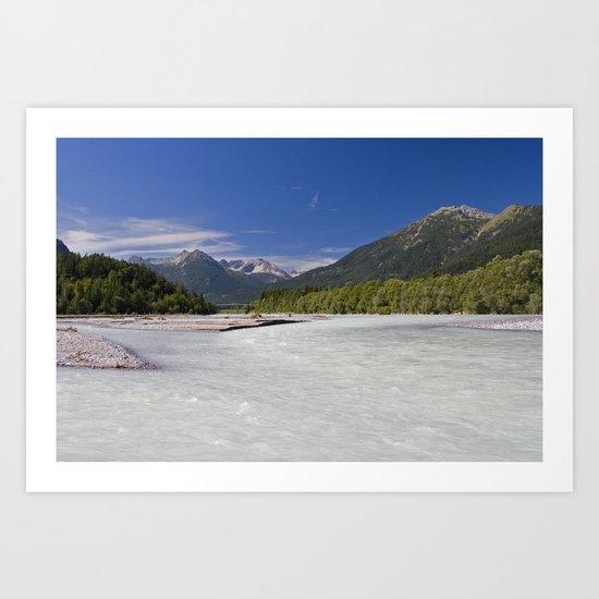Lechtal, Tirol Art Print