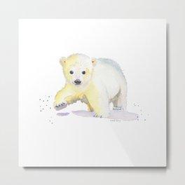 Little Polar Bear Metal Print