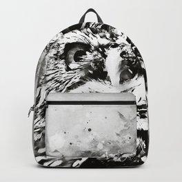 owl portrait 5 wsbw Backpack