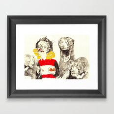 Goldilocks and the Three Bears Framed Art Print