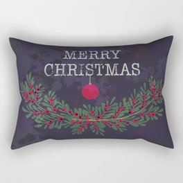Merry Christmas and Happy New Year Rectangular Pillow