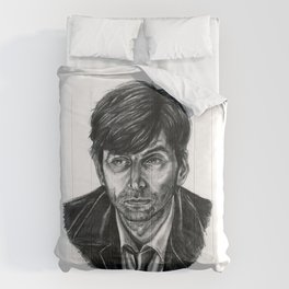 David Tennant as Broadchurch's Alec Hardy (or Gracepoint's Emmett Carver) (Graphite) Portrait  Comforters