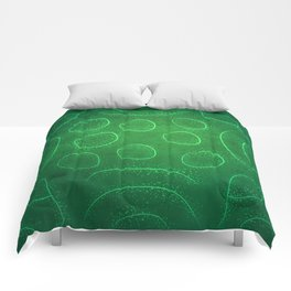 Chladni Pattern - Green by Spencer Gee Comforters