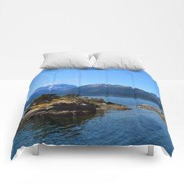 Lanin volcano. Patagonia Comforters