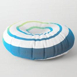 White Spiral Floor Pillow