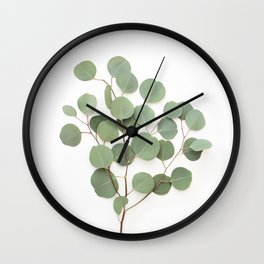 Eucalyptus Branch Wall Clock