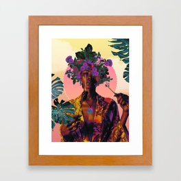 Flower Goddess Framed Art Print