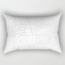 Abstract Map of UC Berkeley Campus Rectangular Pillow