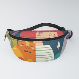 Girl with Cat Fanny Pack