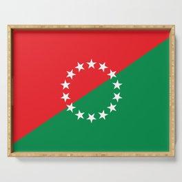 Flag of Chiriqui province or David City,Panama Serving Tray