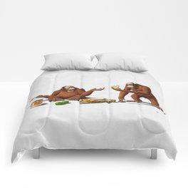 Orange Man (Wordless) Comforters